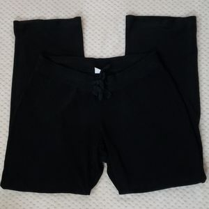 Old Navy black fleece pants, size small